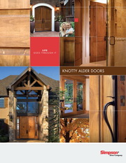 Simpson Knotty Alder Doors